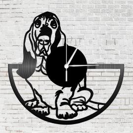 Bakelit falióra - Basset Hound kutya